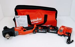 Milwaukee 2807 22 M18 Fuel Hole Hawg 1 2 Right Angle Drill Kit