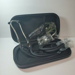 Ibab Sprague Rappaport Double Head Stethoscope With Scissors Black Case