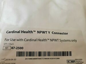 New Quantity Lot Of 10 Cardinal Health 47 2500 For Npwt System Y Connector