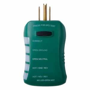 Commercial Electric Gfci Outlet Circuit Analyzer Voltage Tester Led Readouts