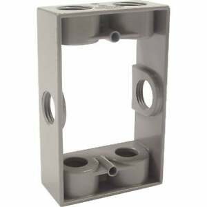 Bell 6 outlet 1 2 In Npt Die cast Aluminum Weatherproof Outdoor Box Extension