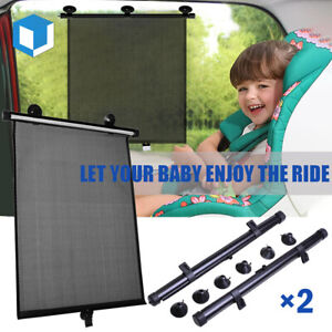 Universal Roller Blind Retractable Car Side Window Sun Shade Baby Pet Protection