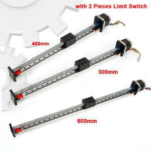 400 500 600mm Stroke Cnc Linear Slide Stage Ball Screw Guide Rail Motion Table