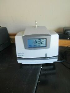 Pyramid 3500 Time Clock Recorder With One Key box A