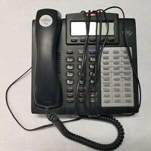 Esi Ivx Ip 48 key H Dfp Charcoal Programmable 3 line Lcd Digital Feature Phone