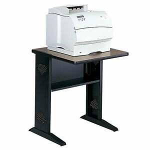 Safco Fax Printer Stand With Reversible Top Black