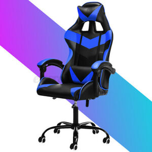 Executive Office Chair Ergonomic Gaming Chair Swivel Computer Desk Seat Recline