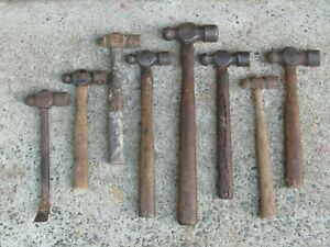 Vintage Ball Pien Hammers Lot Of 8