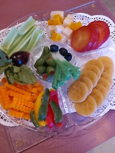 12 Relish Display Tray Asst Realistic Faux Fake Food Home Staging Prop
