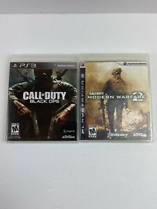 Lot Of 2 Call of Duty: Black Ops and Modern Warfare 2 PS3 PlayStation 3 $12.99