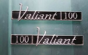 Vintage Plymouth Valiant 100 Set Of Two Emblems Badges