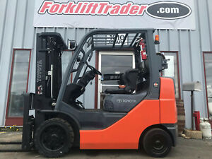 Low Profile 2013 Toyota 8fgcu25 5000lb Cushion Tire Forklift Lifttruck With Ss