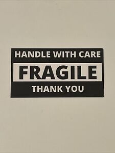 100 Fragile Stickers Handle With Care Labels 4 X 2 1 8
