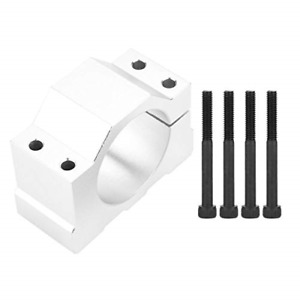 Aluminum Cnc Spindle Motor Mount Bracket Clamp With Screws 52mm Diameter Silver