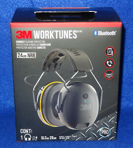 3m Worktunes Connect Bluetooth Hearing Protector Wireless Headset W microphone