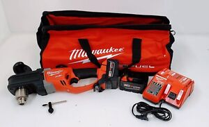 Milwaukee 2707 22 M18 Fuel Hole Hawg 1 2 Right Angle Drill Kit