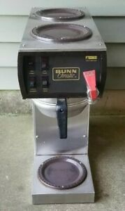 Vintage Working Bunn o matic F 20 Commercial Coffee Maker Brewer Warmer Basket