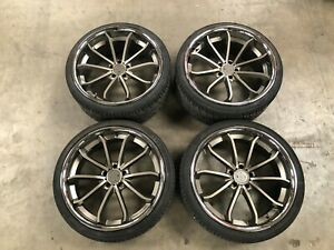 Blaque Diamond Bd 23 Style Wheels Set 22 Inch Staggered Lightly Used