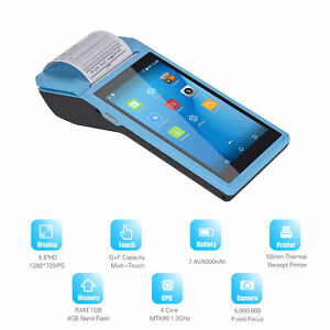 Handheld Android Pos Terminal Bt Receipt Printer 5 5 Inch Touchscreen W8i0