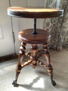 Melvin Bancroft Adjustable Piano Stool Ball And Claw Feet Bench