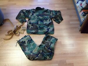 New Us Military Chemical Protective Class 1 Camo Suit Coat Pants Large
