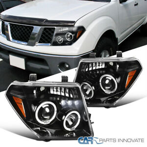 For 05 08 Nissan Frontier 05 07 Pathfinder Pearl Black Halo Projector Headlights
