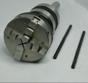 Live Revolving Tailstock With 4 Jaw Self Centering Lathe Chuck 65mm Mt4 Shank