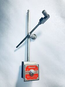 Starrett No 657 Machinist Magnetic Base With 7 Post 1 4 Dial Indicator Rod