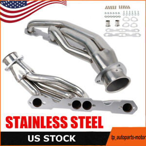 For 88 97 Chevy Gmc Truck Small Block 307 327 305 350 Stainless Exhaust Header