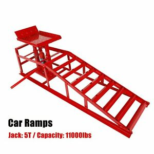 Lift Frame Repair Auto Service Heavy Car Lifts Duty Ramps Hydraulic 11000lb Red