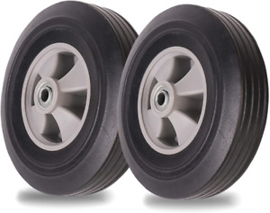 2 Pack Ar Pro 10 X2 Flat Free Solid Rubber Tires 4 10 3 50 4 Flat Fre