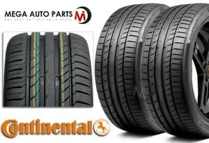 2 Continental Contisportcontact 5 245 50zr18 100y Max Performance Summer Tires