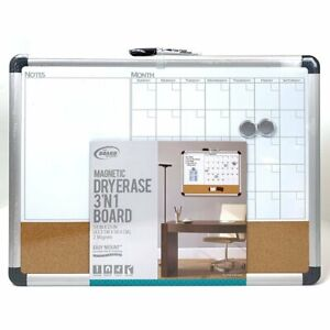 The Board Dudes Magnetic Dry Erase 3 n1 Board Cxp65 00 Black