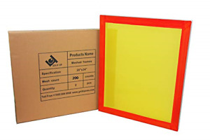 20 X 24 Inch Pre stretched Aluminum Silk Screen Printing Frames With 200 Yellow