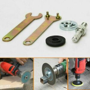 Disc Holder Angle Die Grinder Drill Wrench Nut Mandrel Spanner Adapter Kit Tools