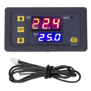 110 220v W3230 Digital Temperature Controller Thermostat With 1m Probe Cable Us