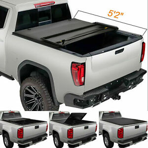 Soft Lock Tri Fold Tonneau Cover For 2015 2021 Chevy Colorado Gmc Canyon 5ft Bed