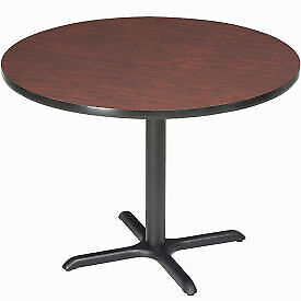 Interion 42 Round Counter Height Restaurant Table Mahogany 695805mh 1 Each