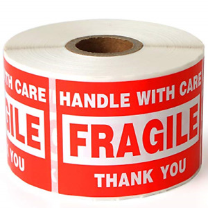 Fragile 2 x3 Handle With Care Shipping Stickers 500 Labels Per Roll