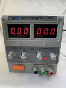 Ote Mastech Hy3003 Benchtop Variable Linear Dc Power Supply 110vac 0 30v 0 3a