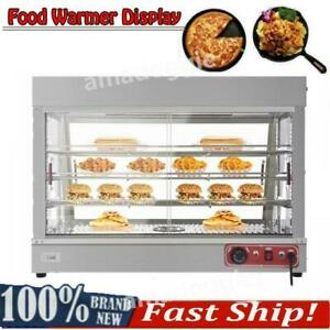 Commercial Food Warmer Court Heat Food Pizza Display Warmer Cabinet 35 Glass