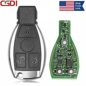 Cgdi Mb Be Key With Smart Key Shell 3 Button Fit For Mercedes Benz 315mhz 433mhz