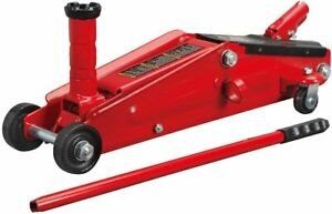Torin Hydraulic Trolley Service Floor Jack With Extra Saddle 3 Ton Capacity Red