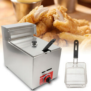 10l Commercial Gas Countertop Deep Fryer Stainless Steel Fried Chicken Fryer New