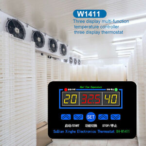 220v W1411 Digital Thermostat Temperature Humidity Control Controller Switch Us
