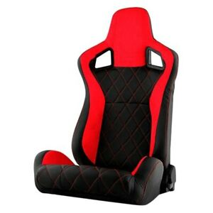 Xtune Rst Scs 01 Rdx Dr Scs Series Driver Side Racing Seat Red W Black Suede