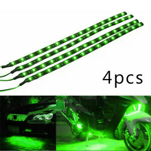 5led 1ft Motorcycle Waterproof Flexible Strip Light For Ext Inte 4pcs 30cm