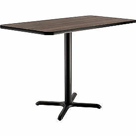 Interion Counter Height Restaurant Table 48 lx30 wx36 h Charcoal 695850cl 1