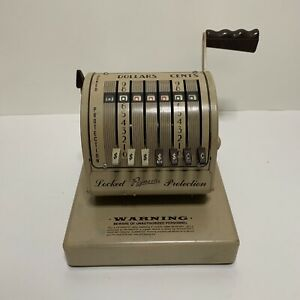 Vintage Paymaster Check Writer X550 Excellent Working Condition
