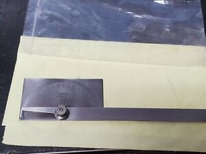 General Tools No 17 Protractor Stainless Steel U s a Good Used